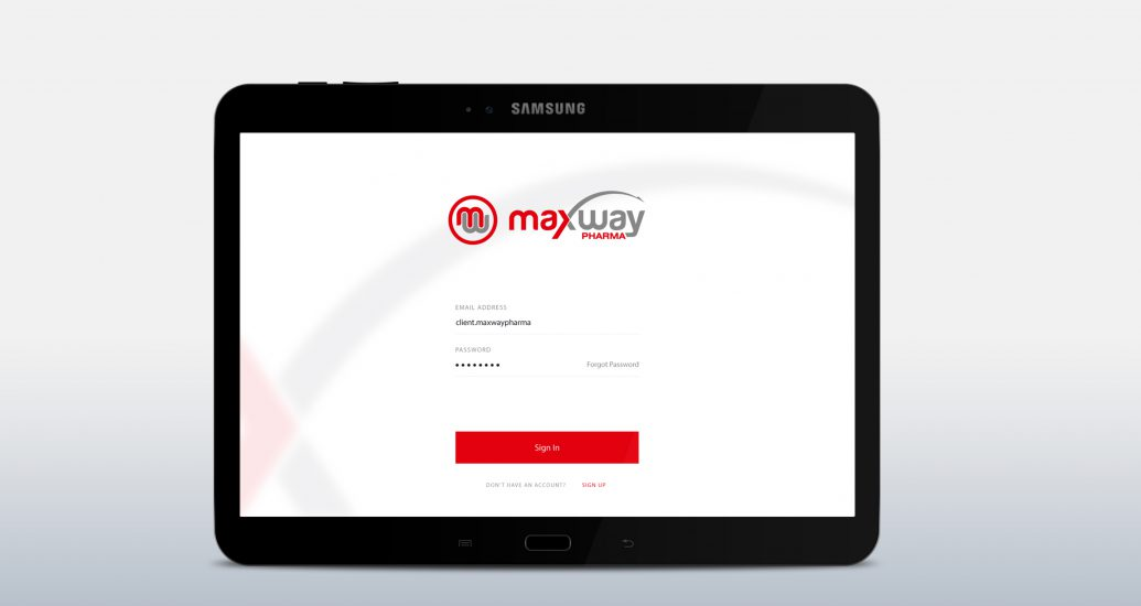 Maxway pharma android tablet application