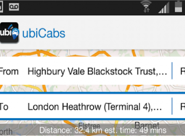taxi booking app for android phones